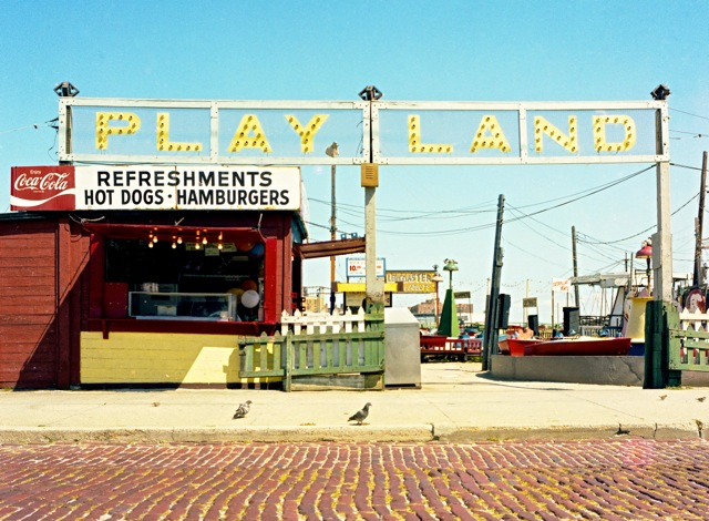 Playland's entrance fro Edwards Blvd.