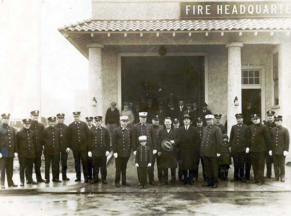 Outside Fire Headquarters